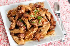 Crockpot honey sesame chicken.
