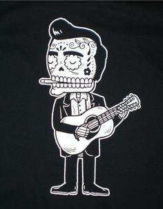 Johnny Cash Sugar Skull