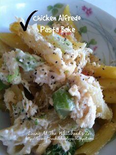 chicken alfredo pasta bake  @aawhitehead