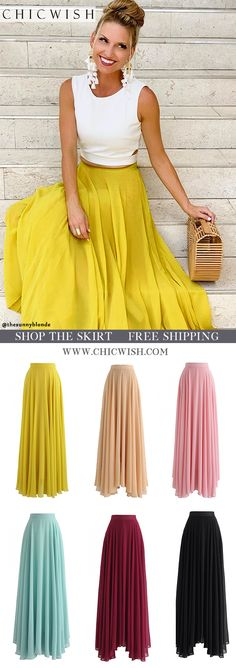 Free Shipping & Easy Return. Up to 30% Off. Timeless Favorite Chiffon Maxi Skirt and A Fan of Bowknot Crop Top. @thesunnyblonde #outfit #clothing #womenfashion #fashion #summeroutfit #casualoutift #outfitidea #skirt #alineskirt #maxiskirt #datingoutfit #partyskirt #chiffonskirt