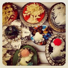 Vintage Style Cameo Rings By Makush's Jewellery