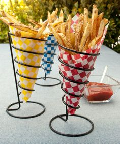 Take a look at this French Fry Cone Holder - Set of Three by Charcoal Companion on #zulily today!