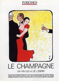 Illustration Vintage - Le Champagne - Gruau