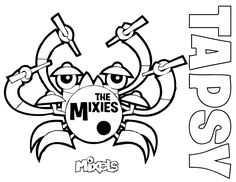 mixel coloring page   my little corner