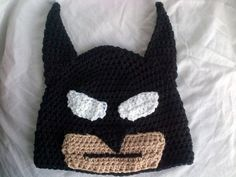 free batman knitted hat | ... Hat Pattern pattern on Craftsy.com. Really need to make a Batman hat