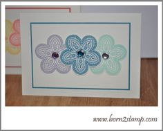 Stampin' UP! Triple Treat Flower