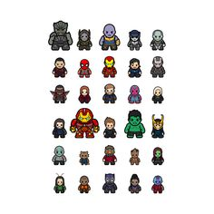 Drawing Marvel Comics Avengers Infinity War All Characters Baby Avengers, Baby Marvel, Chibi Marvel, Avengers Fan Art, Avengers Imagines, Avengers Humor, Marvel Heroes, Marvel Comics, All Avengers Characters