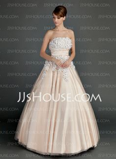 Quinceanera Dresses - $198.99 - Ball-Gown Strapless Floor-Length Tulle Charmeuse Quinceanera Dress With Ruffle Beading Flower(s) (021015713) http://jjshouse.com/Ball-Gown-Strapless-Floor-Length-Tulle-Charmeuse-Quinceanera-Dress-With-Ruffle-Beading-Flower-S-021015713-g15713
