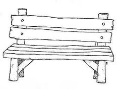 Magnolia rubber stamps - bench
