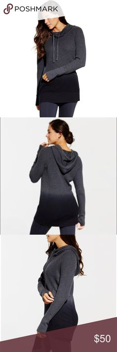 NWT Women's CALIA  Sweater Sizes: XS & M NWT Women's CALIA by Carrie Underwood  Effortless Dip Dye Hooded Sweater in Grey and Black Ombré  Sizes: XS & M***I have one of each, let me know if you want one!! ***Never worn, tags attached, PERFECT condition*** Open to offers!! CALIA by Carrie Underwood Sweaters Cowl & Turtlenecks