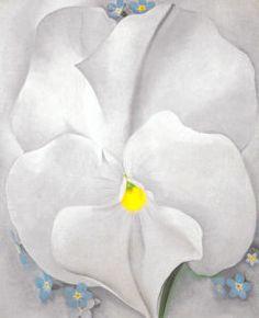 White Pansy by Georgia O'Keeffe.