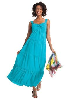 Dress in soft crepe with tiers Woman Within, http://www.amazon.com/gp/product/B007U6G34Y/ref=cm_sw_r_pi_alp_heCPpb1DJ2NSB