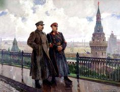 """Stalin and Voroshilov in the Kremlin"" (""After the Rain""). Alexander Gerasimov"