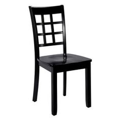 Picture of Lattice Back Chair - Black