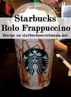 Starbucks Rolo Frappuccino! Chocolaty caramel deliciousness!