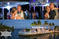 outdoor reception on a dock | Key Largo Lighthouse Wedding