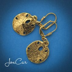 On the Beach Sand Dollar Earrings-Light, relaxing, and fun earrings. ~gold tone~    $16.00