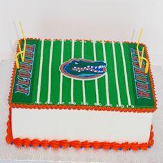 Florida Gator Football cake, www.cupadeecakes.com
