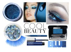 """""""True Blue: Cool Eyeshadow"""" by shortntallbignsmall ❤ liked on Polyvore featuring beauty, Maybelline, Stila, Topshop, Lime Crime and Clinique"""