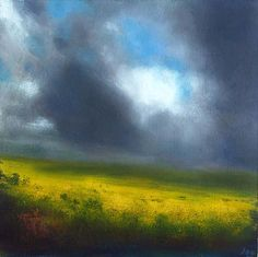 Stormy Sky #157 by John O' Grady Landscape painting, Irish Art, Clouds, Sky