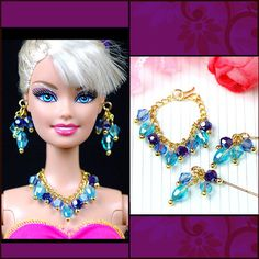 Handmade Barbie Doll Jewelry Set Necklace Earrings for Barbie Dolls | eBay