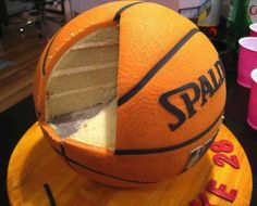 Basketball party ideas include basketball cake, cake pops, cupcakes and candies Oestreich Oestreich Spoon, we could do this right? I'm thinking smaller though, since i plan to have a football cake as well Pretty Cakes, Cute Cakes, Beautiful Cakes, Amazing Cakes, Basketball Birthday, Basketball Party, Basketball Cakes, Soccer Ball, Basketball Finals