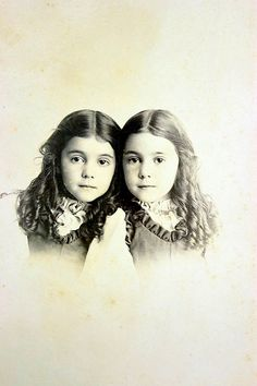 Antique Cabinet Photo Twin Sisters Little Girls by TreNove on Etsy, $6.50