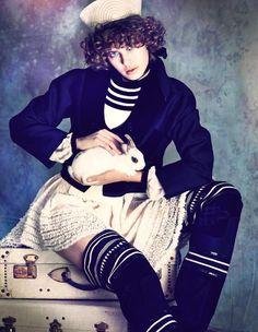 Alexandra Hochguertel by Olaf Wipperfürth for Tatler Russia December 2015 - Gaultier Paris Fall 2015 Haute Couture