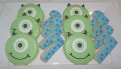 Monsters Inc Cookies by Whoosbakery on Etsy, £4.00