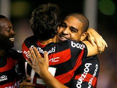 Zé Roberto, Petkovic e Adriano - 2009 - os 3 arrebentaram! No Maracanã, Flamengo 3x0 Sport-PE pelo Brasileiro