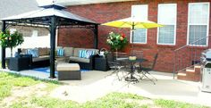 This newly made over patio provides outdoor relaxation just like a deck, with less hassle.