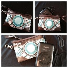 """Icon Coin Purse $12 Approx. 4""""H x 4""""W What fun way to carry your camera, credit cards, biz cards, etc!!!"""