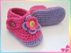 Flower Power, Baby Kind, Baby Shoes, Clothes, Fashion, Lilac, Flower Crochet, Inside Shoes, Threading
