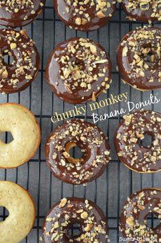 Chunky Monkey Banana Donuts - Sugar Dish Me