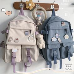 Stylish School Bags, Cute School Bags, Cute School Supplies, Aesthetic Backpack, Aesthetic Bags, School Accessories, Kawaii Accessories, Kawaii Bags, Kawaii Clothes