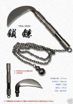 Kusarigama  (sickle and chain) Ninja Samurai Japan arms weapon Shinobi