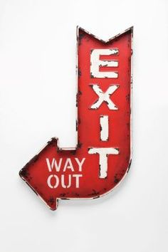 Cool exit sign