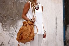 hobo bag with tooled leather