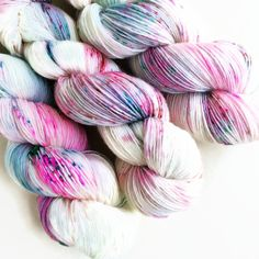 Pop rocks / hand dyed yarn / speckle yarn / superwash merino wool sock yarn…