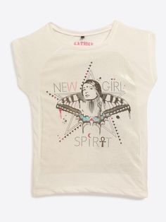 T-shirt avec imprimé ado fille, La Halle