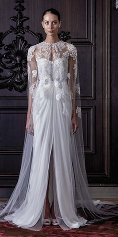 Monique Lhuillier Spring 2016 Wedding Dresses 7 / http://www.himisspuff.com/monique-lhuillier-spring-2016-wedding-dresses/2/