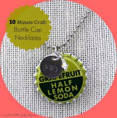 The Flavor of the Month Bottle Cap Necklace is so quick to make that if you blink, you might miss it. Learn how to upcycle vintage bottle caps into a quirky accessory with the help of this tutorial.