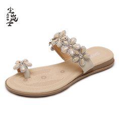 4c747aa99d11 Women Flip Flops Shoes Summer Fashion Beach Style Sandals Bohemia 2017  Flats Comfort Shoes