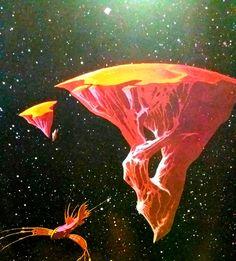 Fantasy World, Dark Fantasy, Roger Dean, Sci Fi Books, Soul Art, Science Fiction Art, Sci Fi Art, Fantasy Artwork, Pretty Pictures