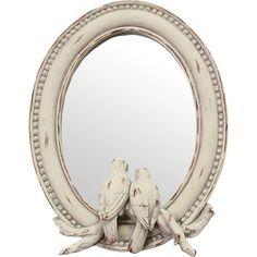 Lovebirds Wall Mirror - repinned from jossandmain.com & Marcy Middleton