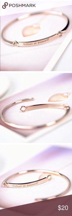 ✨Believe In Yourself Cuff Bracelet ✨ ✨Beautiful positive energy believe in yourself bracelet ✨ Dina Aziza Jewelry Bracelets