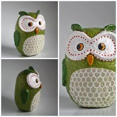 """""""Large Green Owl"""" by Holly St.Denis"""
