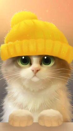 Картинки по запросу котенок в шапке