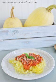 Spaghetti Squash Recipe with Tomato Basil Sauce - Town & Country Living