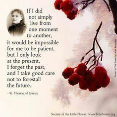 St. Therese on patience